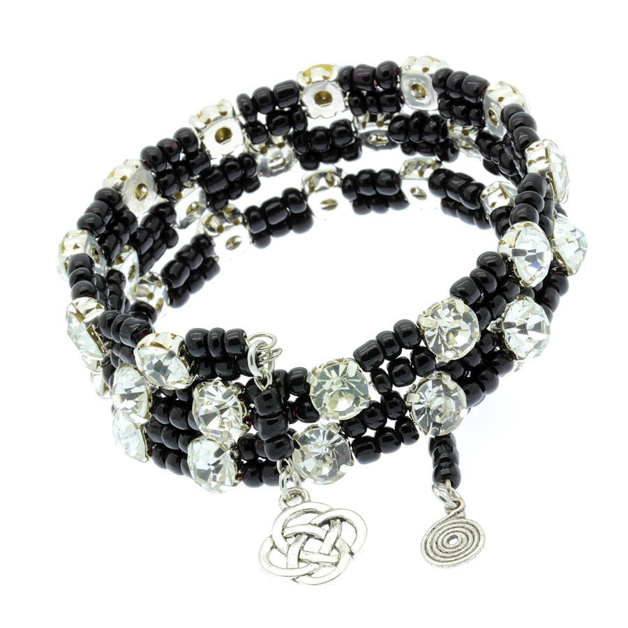 Memory wire bracelet with rhinestones - JAFY\'s Jewelry – Exclusive ...