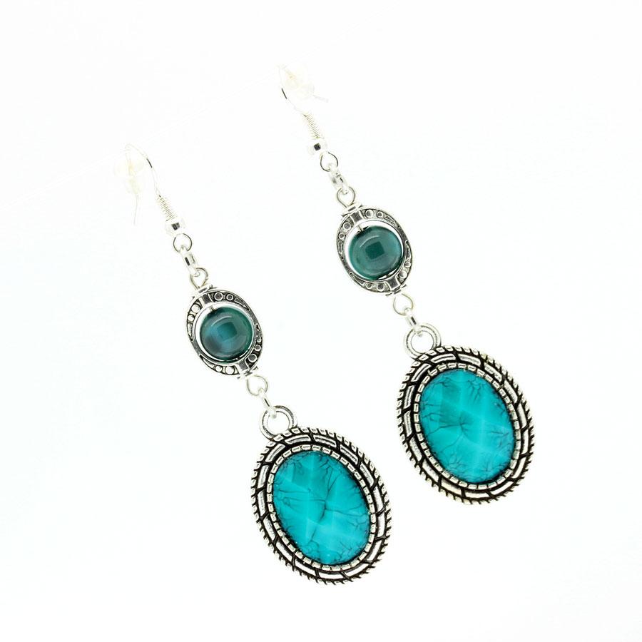 Brincos azul turquesa