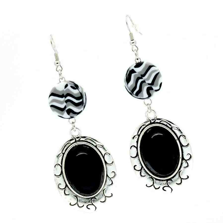 for fairest burdlife gift earrings jewelry floral products front bohemian and girls black white view dangle