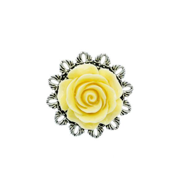 Pregadeira redonda flor amarela