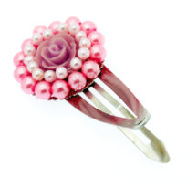Gancho de cabelo flor rosa