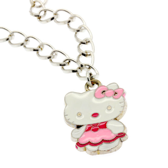 Colar Hello Kitty rosa