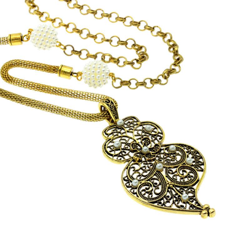 Colar bronze com coração de Viana