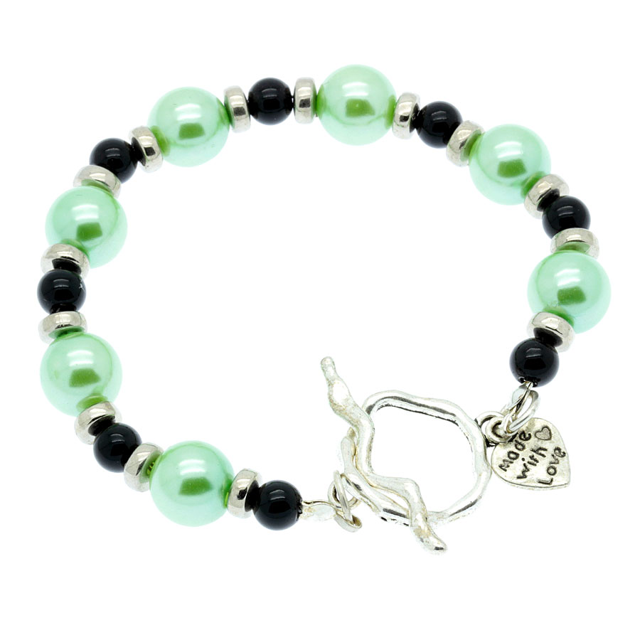 Fabulous Green and black beaded bracelet - JAFY's Jewelry – Exclusive and  YG89