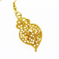 Brincos coração de viana dourados