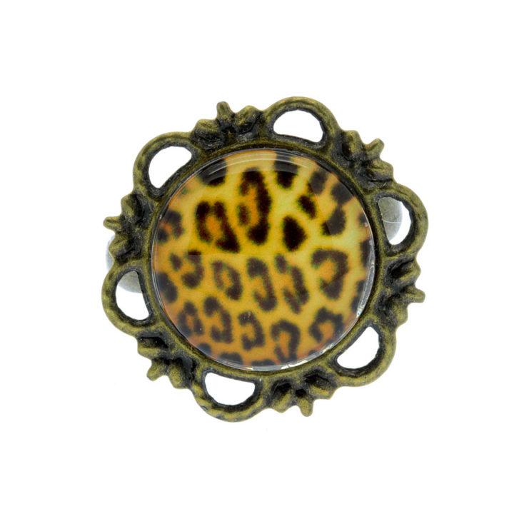 Anel bronze pele de leão