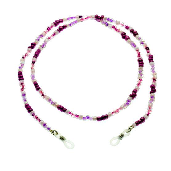 Fita de óculos de missangas roxo/lilás